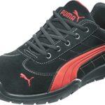Puma Safety Shoes Silverstone Low S1P HRO SRC, Puma 642630-210-43 Herren Sicherheitsschuhe, Schwarz (schwarz/rot 210), EU 43